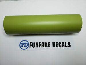 "Olive Green Oracal 631 12"" x 5ft. Roll Adhesive Backed Vinyl-Fun Fare Decals"