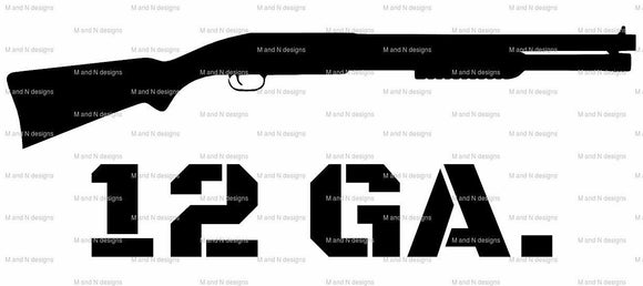 12ga Gun Vinyl decal-Fun Fare Decals