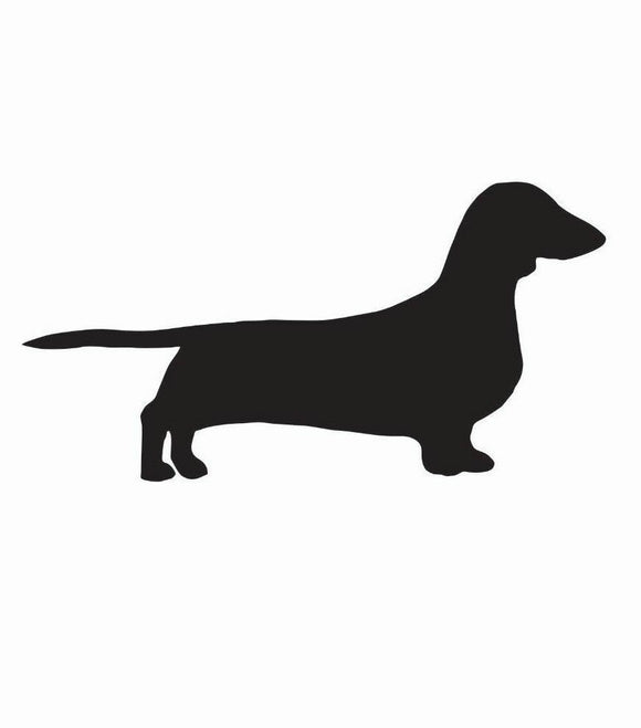 Dachshund Dog Vinyl Decal-Fun Fare Decals