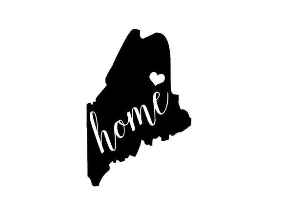 Maine Home Die Cut Vinyl Decal-Fun Fare Decals
