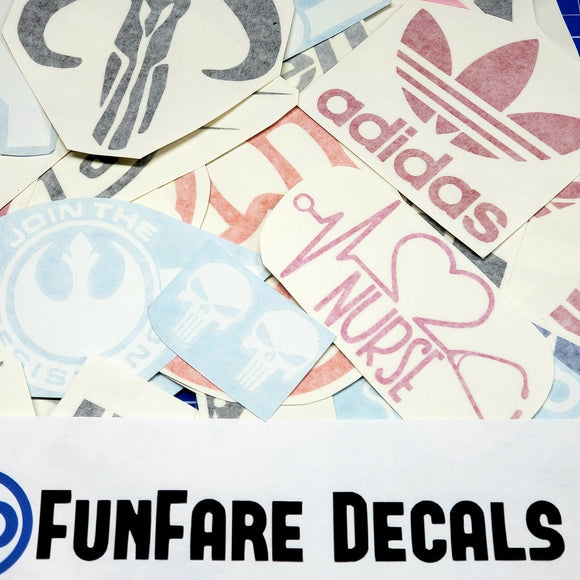 15pcs Vinyl Decal Grab Bag-Fun Fare Decals