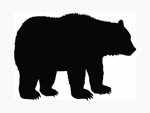 Bear Vinyl Decal Sticker Grizzly Black Outdoors Wild Car Window Laptop Cool Gift-Fun Fare Decals