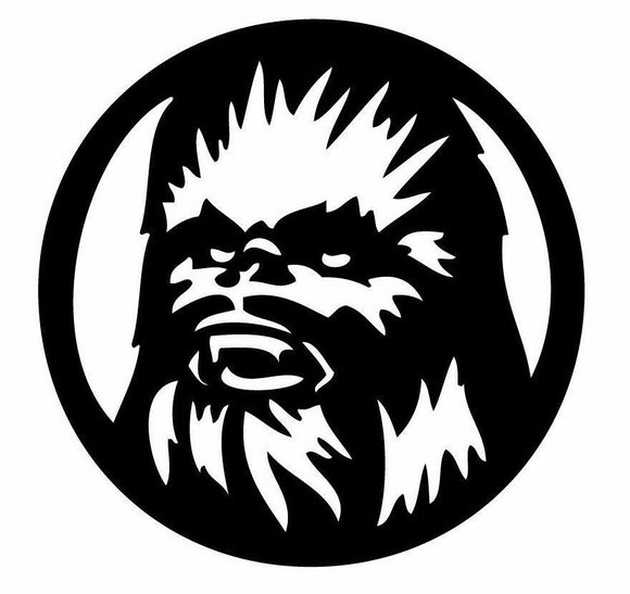 Star Wars Chewbacca TV JDM Vinyl Sticker Decal Car Window bumper Wall Oracal-Fun Fare Decals
