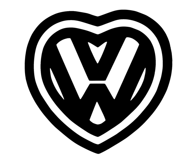 VW Heart Vinyl Decal-Fun Fare Decals
