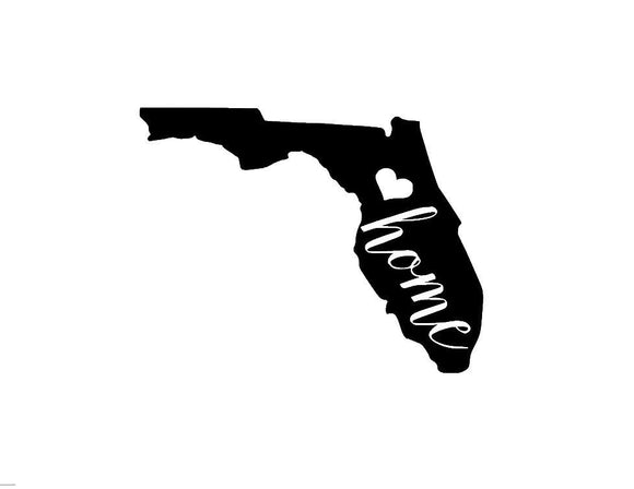 Florida Home Die Cut Vinyl Decal-Fun Fare Decals