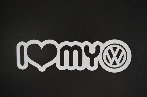 I love my VW vinyl decal-Fun Fare Decals