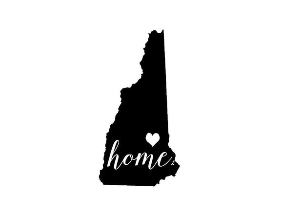 New Hampshire Home Die Cut Vinyl Decal-Fun Fare Decals