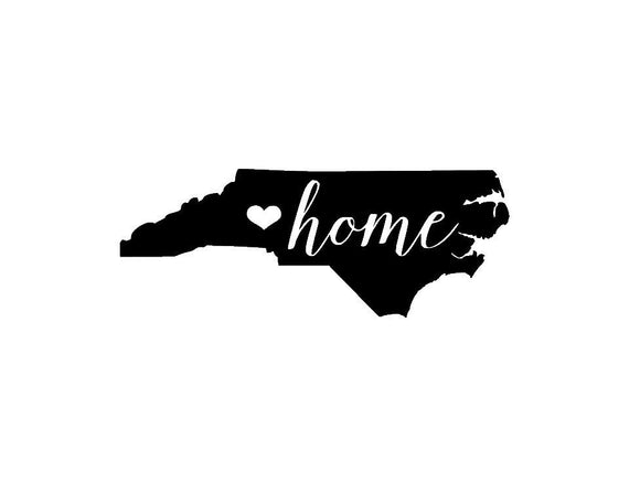 North Carolina Home Die Cut Vinyl Decal