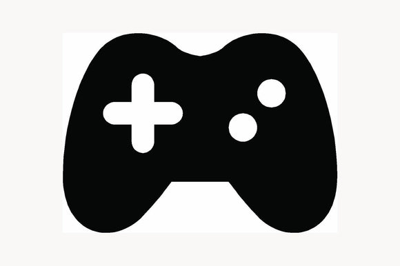 VIDEO GAME CONTROLLER Sticker Icon Car Window Vinyl Decal Joystick Console Pad-Fun Fare Decals