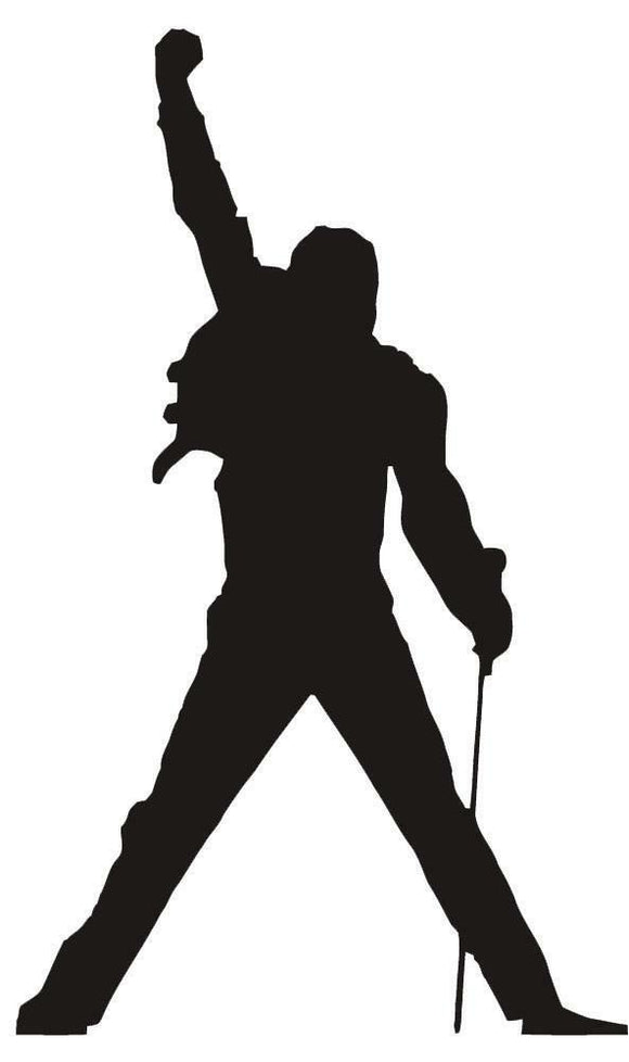 Freddie Mercury Vinyl Decal-Fun Fare Decals