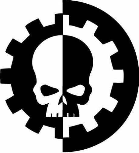 Warhammer 40k Adeptus Mechanicus Die cut Vinyl Decal