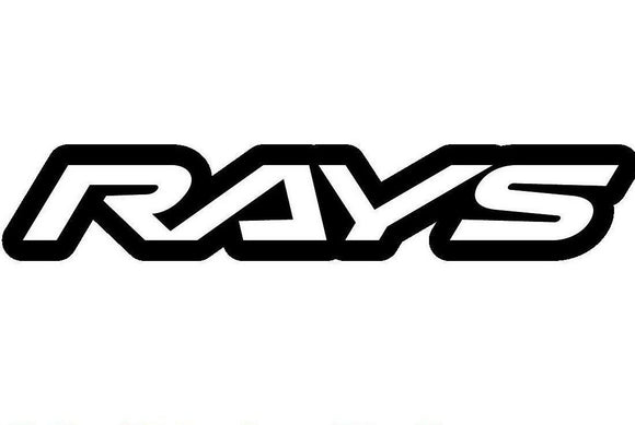 Rays Wheels Car Rims Vinyl Decal-Fun Fare Decals