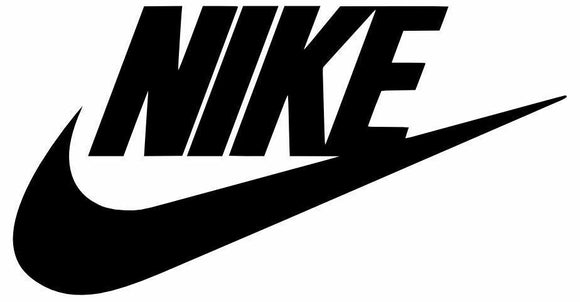 2x Nike Swoosh Vinyl Decal Sticker Michael Jordan Air Nike Swoosh Logo Decal
