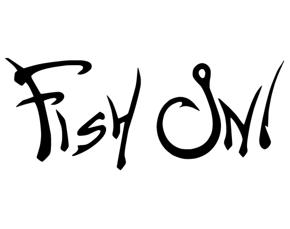 Fish On Sticker Vinyl Decal-Fun Fare Decals