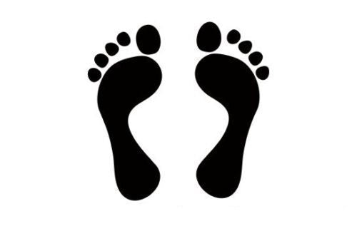 Foot Sticker Vinyl Decal