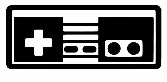 Nintendo NES Controller retro Sticker Decal Logo Super SNES mario zelda Oracal-Fun Fare Decals