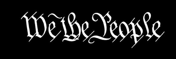 WE THE PEOPLE x2 Sticker Car Window Vinyl Decal LAPTOP TRUCK SUV WALL DECAL-Fun Fare Decals