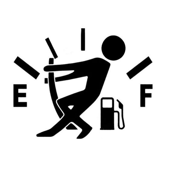 Funny Pull Fuel Tank Pointer To Full-Fun Fare Decals