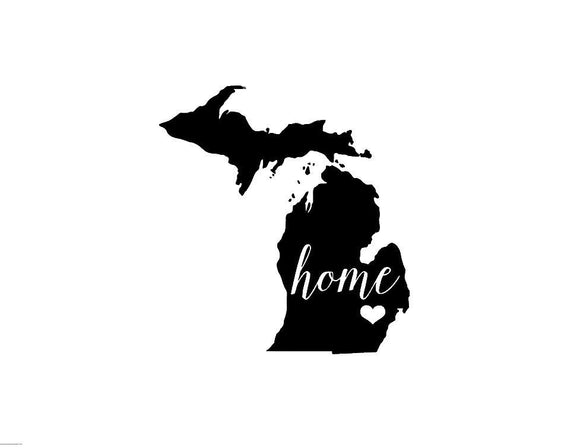 Michigan Home Die Cut Vinyl Decal-Fun Fare Decals