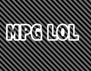 MPG LOL die cut vinyl decal-Fun Fare Decals
