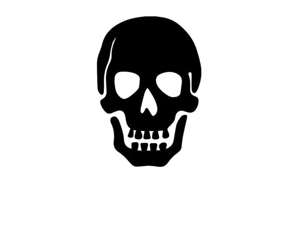 Basic Skull Die cut Vinyl Decal-Fun Fare Decals