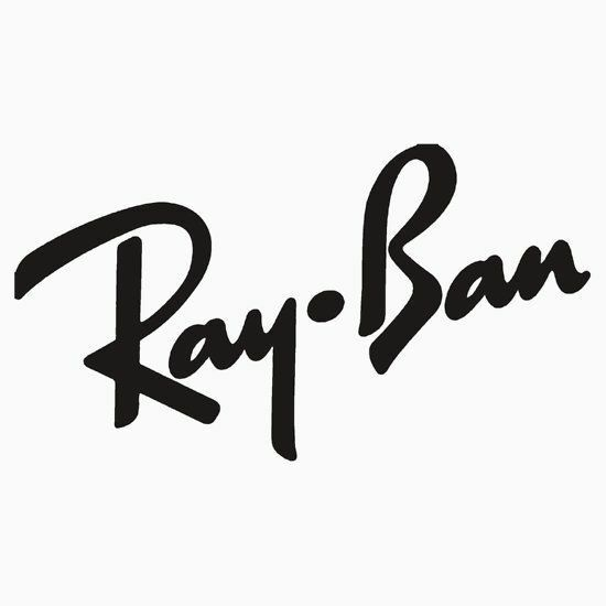(2x) RAY BAN sticker vinyl decal