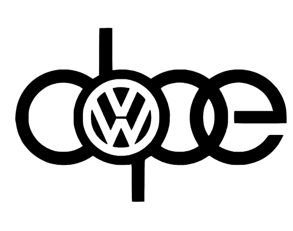 DOPE VW Vinyl Decal-Fun Fare Decals