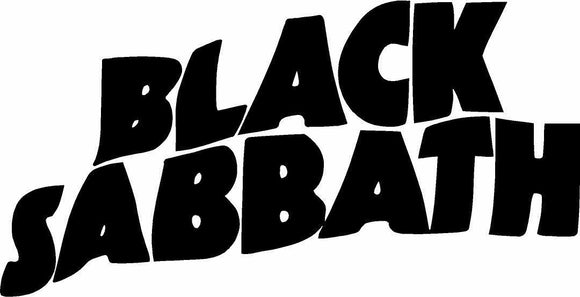 Black Sabbath Vinyl Decal-Fun Fare Decals