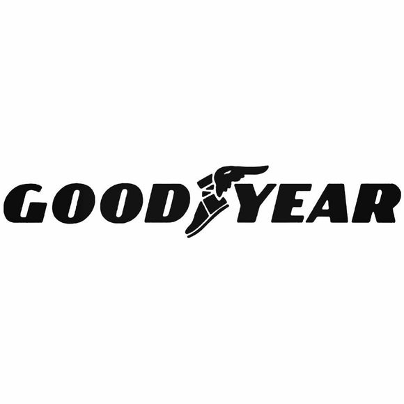 (2) Goodyear Sticker Vinyl Decal