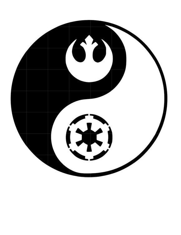 Star Wars YING YANG Sticker Vinyl Decal-Fun Fare Decals
