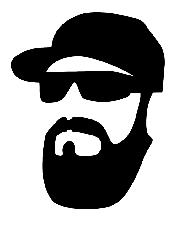 Beard Glasses & Hat Hipster Die Cut Vinyl-Fun Fare Decals