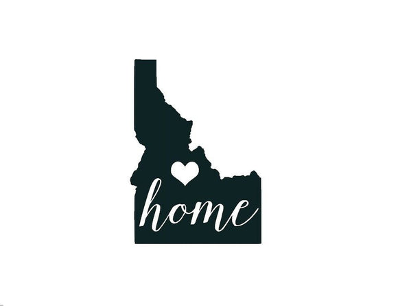 Idaho Home Die Cut Vinyl Decal-Fun Fare Decals