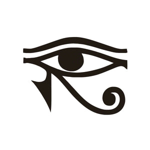 EYE OF RA HORUS Egyptian God Vinyl Decal Sticker Window Wall Bumper Pagan Symbol-Fun Fare Decals
