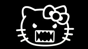 Hello Kitty DOMO KUN die cut vinyl decal-Fun Fare Decals