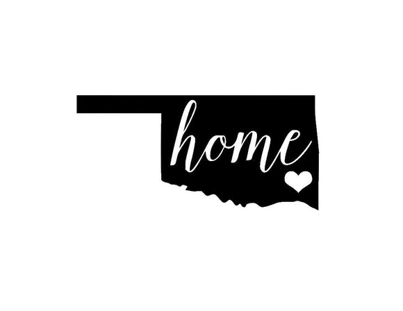 Oklahoma Home Die Cut Vinyl Decal-Fun Fare Decals