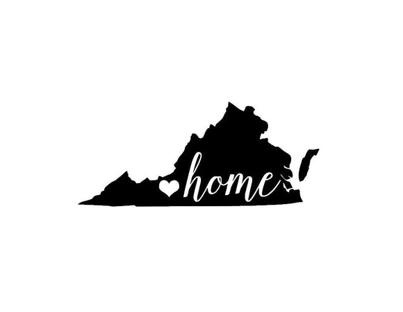 Virginia Home Die Cut Vinyl Decal-Fun Fare Decals