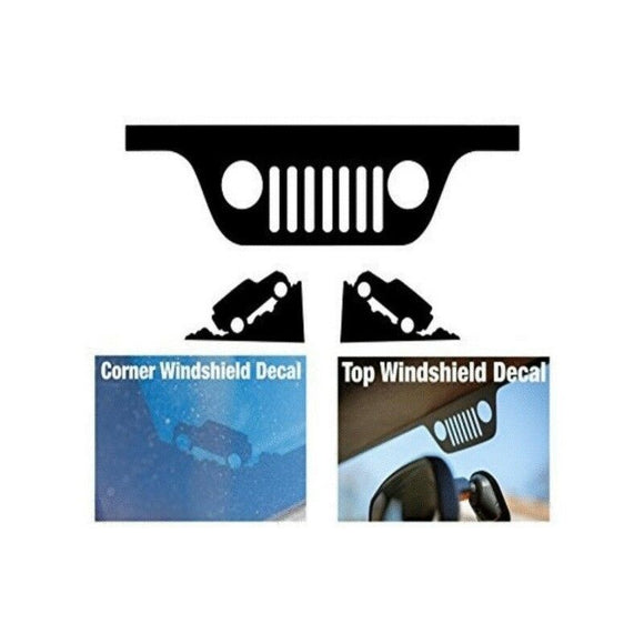 Jeep Windshield Replacement Decal Set-Fun Fare Decals