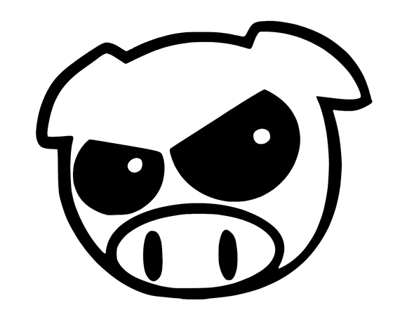 Evil Rally Pig Die Cut Decal