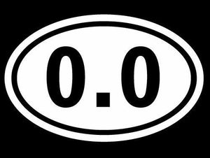 0.0 Oval Decal I DONT RUN Marathon Running Vinyl Funny Car Truck Bumper Sticker-Fun Fare Decals