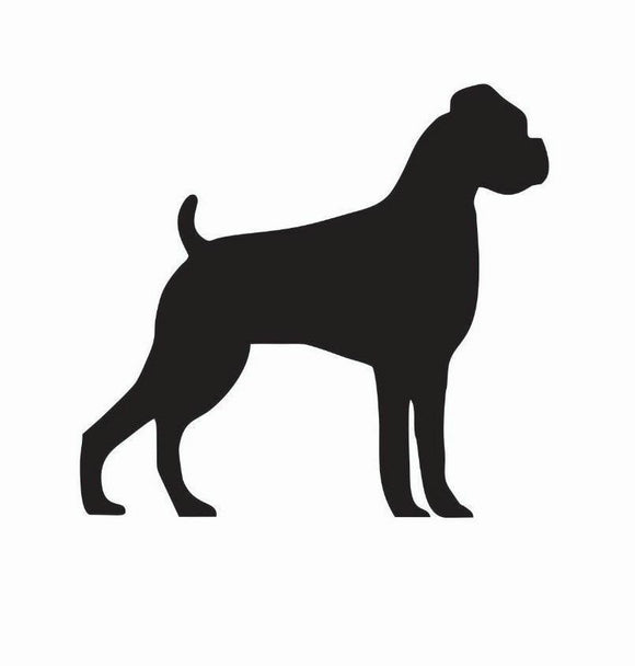Boxer Dog Vinyl Decal-Fun Fare Decals