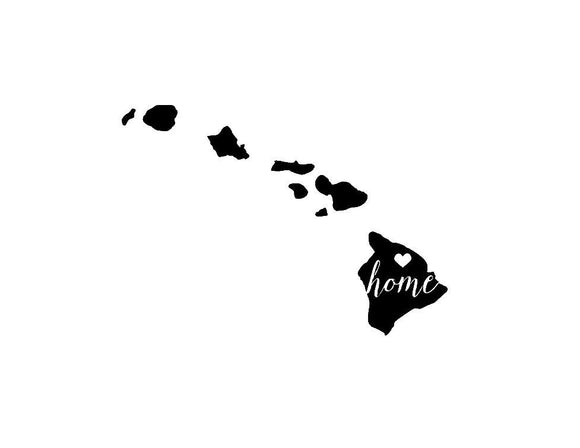 Hawaii Home Die Cut Vinyl Decal-Fun Fare Decals