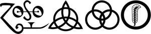 All 4 Led Zeppelin Runes Decal vinyl window sticker car truck jdm rock music