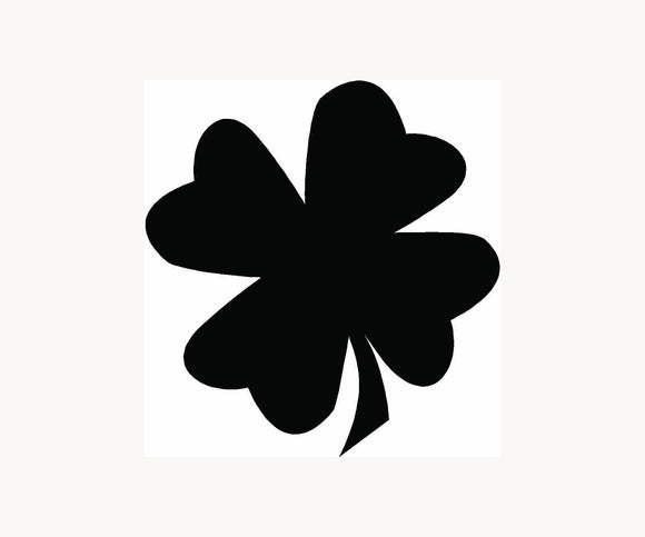 Four Leaf Clover Vinyl Decal-Fun Fare Decals