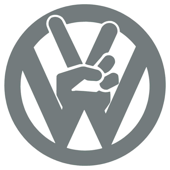 VW volkswagen peace sign vinyl