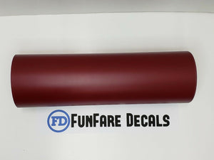 "Burgundy Oracal 631 12"" x 5ft. Roll Adhesive Backed Vinyl-Fun Fare Decals"