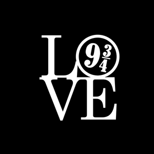 Love 9 and 3/4 Vinyl Decal-Fun Fare Decals