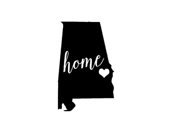 Alabama Home Die Cut Vinyl Decal