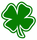 Four Leaf Clover with Outline Vinyl Decal-Fun Fare Decals