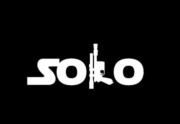 Solo With Blaster Vinyl Decal-Fun Fare Decals