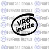 VR6 Inside Vinyl Decal-Fun Fare Decals